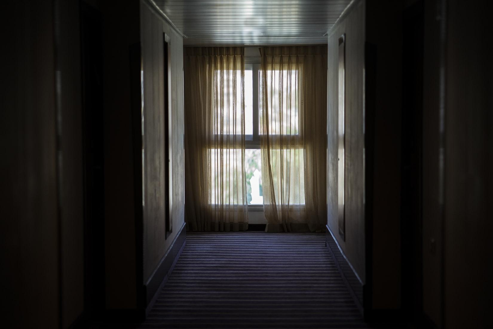 curtain hallway